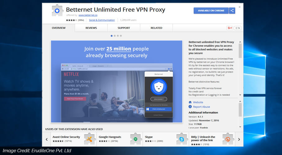 betternet unlimited free vpn proxy image
