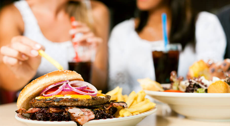 eating junk food image